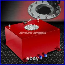 10 Gallon/38l Red Coated Aluminum Fuel Cell Tank+level Sender+45 Fast Fill Neck