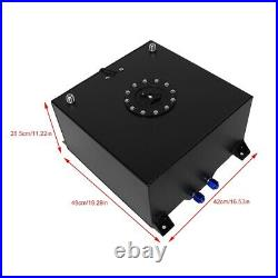 10 Gallon Aluminum Alloy Fuel Cell Gas Tank Level Sender Replacement Auto Part
