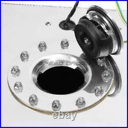 10 Gallon Polished Aluminum Fuel Cell Tank+cap+level Sender+nylon Fuel Line Kit
