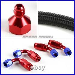 10 Gallon Red Aluminum Fuel Cell Gas Tank+cap+level Sender+nylon Fuel Line Kit