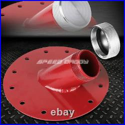 10 Gallon Red Coated Aluminum Fuel Cell Gas Tank+level Sender+45° Fast Fill Neck