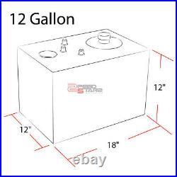 12 Gallon Lightweight Full Aluminum Gas Fuel Cell Tank+level Sender 17.75x12x12