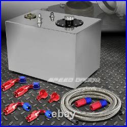 12 Gallon Top-feed Aluminum Fuel Cell Gas Tank+cap+level Sender+steel Line Kit