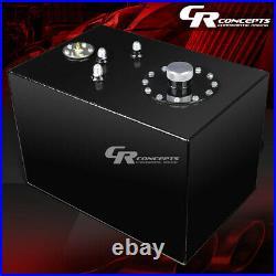12 Gallon Top-feed Black Coat Aluminum Gas Fuel Cell Tank+cap+level Sender+foam