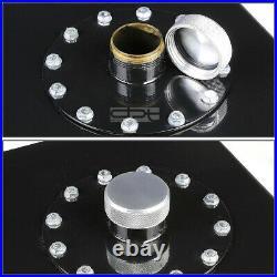 12 Gallon Top-feed Black Coated Aluminum Racing Fuel Cell Tank+cap+level Sender