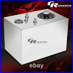 12 Gallon Top-feed Polished Aluminum Gas Fuel Cell Tank+cap+level Sender+foam
