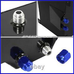15.5 Gallon/59l Black Aluminum Fuel Cell Tank+level Sender+steel Fuel Line Kit