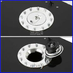 15.5 Gallon/59l Lightweight Black Coat Aluminum Race Fuel Cell Tank+level Sender