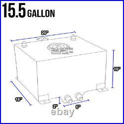 15.5 Gallon/59l Lightweight Red Coat Aluminum Race Fuel Cell Tank+level Sender