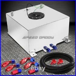 15.5 Gallon/59l Polish Aluminum Fuel Cell Tank+level Sender+nylon Fuel Line Kit