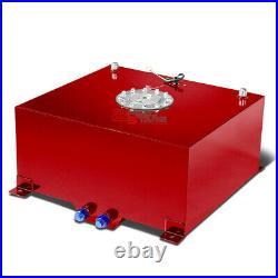 15.5 Gallon/59l Racing Red Aluminum Gas Fuel Cell Tank+level Sender 20x18x10