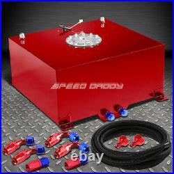 15.5 Gallon/59l Red Aluminum Fuel Cell Gas Tank+level Sender+nylon Fuel Line Kit