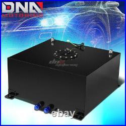 15.5 Gallon Light Performance Black Coated Aluminum Fuel Cell Tank+level Sender