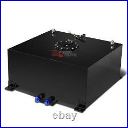 15.5 Gallon Lightweight Black Aluminum Gas Fuel Cell Tank+level Sender 20x18x10