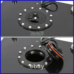 15.5 Gallon Lightweight Black Coat Aluminum Racing Fuel Cell Tank+level Sender