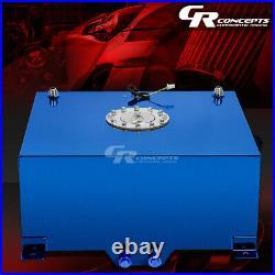 15 Gallon/57l Blue Coat Aluminum Race/drifting Fuel Cell Tank+cap+level Sender