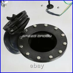 15 Gallon/57l Polished Aluminum Fuel Cell Tank+level Sender+nylon Fuel Line Kit