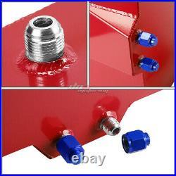 15 Gallon/57l Red Aluminum Racing/drift Fuel/gas Cell Tank+cap+level Sender