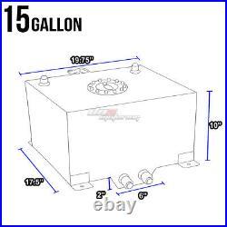 15 Gallon Light Performance Blue Coated Aluminum Fuel Cell Tank+level Sender