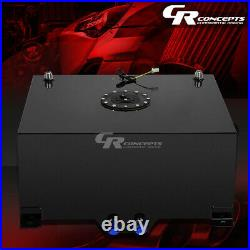 15 Gallon Lightweight Black Coated Aluminum Gas Fuel Cell Tank+level Sender+foam