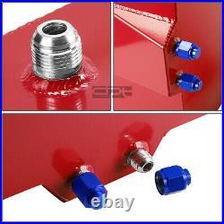 15 Gallon Lightweight Red Coat Aluminum Race Drift Fuel Cell Tank+level Sender