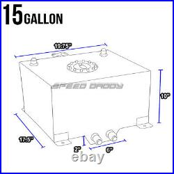 15 Gallon Red Coated Aluminum Racing/drifting Fuel Cell Gas Tank+level Sender