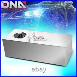 15 Gallon Top-feed Aluminum Race Fuel Cell Tank+cap+level Sender+steel Line Kit