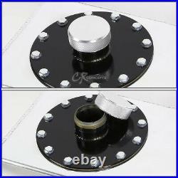 15 Gallon Top-feed Polished Aluminum Gas Fuel Cell Tank+cap+level Sender+foam