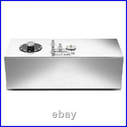 15 Gallon Top-feed Polished Aluminum Race Drift Fuel Cell Tank+cap+level Sender