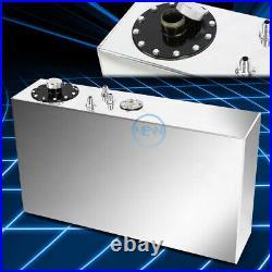 17 Gallon/64l Aluminum Light Slim Fuel/gas Tank Cell+level Sender+neck Top-feed