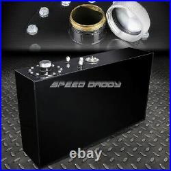 17 Gallon/64l Top-feed Black Aluminum Slim Fuel Cell Gas Tank+cap+level Sender
