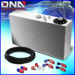 17 Gallon Top-feed Aluminum Race Slim Fuel Cell Tank+level Sender+nylon Line Kit