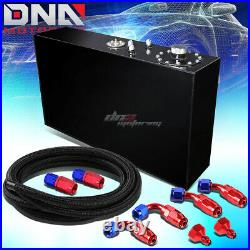 17 Gallon Top-feed Coated Race Slim Fuel Cell Tank+level Sender+steel Line Kit