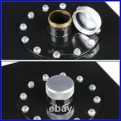 17 Gallon Top-feed Performance Black Aluminum Fuel Cell Tank+cap+level Sender