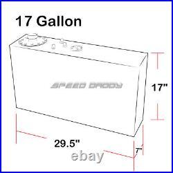 17 Gallon Top-feed Slim Aluminum Fuel Cell Gas Tank+level Sender+nylon Line Kit