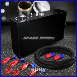 17 Gallon Top-feed Slim Coated Fuel Cell Gas Tank+level Sender+steel Line Kit
