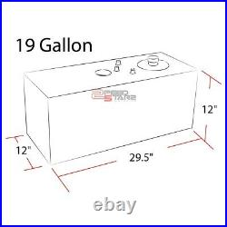 19 Gallon Lightweight Full Aluminum Gas Fuel Cell Tank+level Sender 29.75x12x12