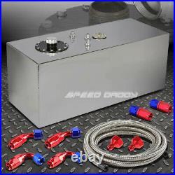 19 Gallon Top-feed Aluminum Fuel Cell Gas Tank+cap+level Sender+steel Line Kit