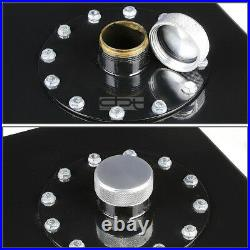 19 Gallon Top-feed Black Coated Aluminum Racing Fuel Cell Tank+cap+level Sender