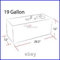 19 Gallon Top-feed Performance Black Aluminum Fuel Cell Tank+cap+level Sender
