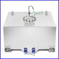20 Gallon/75.7l Lightweight Polished Aluminum Race Fuel Cell Tank+level Sender