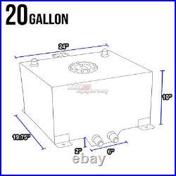 20 Gallon/76l Black Aluminum Racing/drift Fuel/gas Cell Tank+cap+level Sender