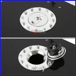20 Gallon/76l Racing Black Aluminum Gas Fuel Cell Tank+level Sender 19.75x24x10