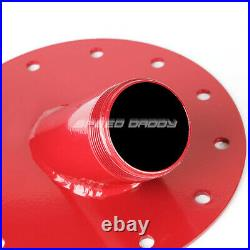 20 Gallon/76l Red Coated Aluminum Fuel Cell Tank+level Sender+45 Fast Fill Neck