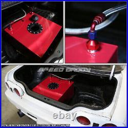 20 Gallon/78l Red Aluminum Fuel Cell Gas Tank+level Sender+nylon Fuel Line Kit