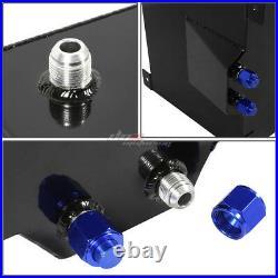 20 Gallon Black Aluminum Fuel Cell Gas Tank+cap+level Sender+nylon Oil Feed Kit