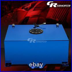 20 Gallon Blue Coated Aluminum Race/drifting Fuel Cell Gas Tank+level Sender