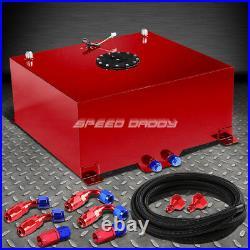 20 Gallon Red Aluminum Fuel Cell Gas Tank+cap+level Sender+nylon Fuel Line Kit