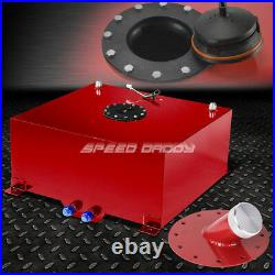 20 Gallon Red Coated Aluminum Fuel Cell Gas Tank+level Sender+45 Fast Fill Neck