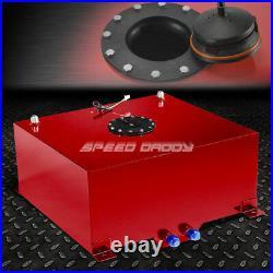 20 Gallon Red Coated Aluminum Fuel Cell Gas Tank+level Sender+45filler Neck+cap